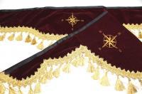 Ламбрекены флок с вышивкой
