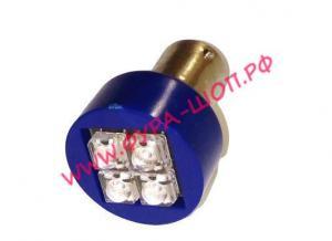 купить, CN2107, Лампочка, 24V-, 21W(BA15S)4х4СМД, синяя