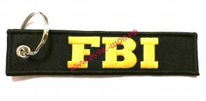 Брелок,ткань, вышивка, 13х3см, FBI