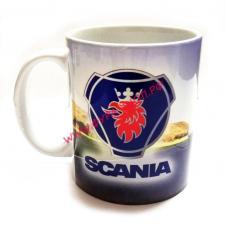Чашка, с, логотипом, Skania, скания