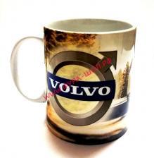 Чашка, с, логотипом, Volvo, вольво