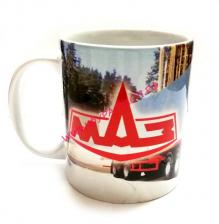 Чашка, с, логотипом, МАЗ