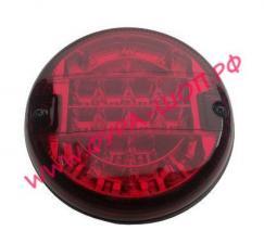 Фонарь, задний, LED, 021, круглый, красный, противотуманный, супер, cветодиод, узкий, корпус, 720106, MARS