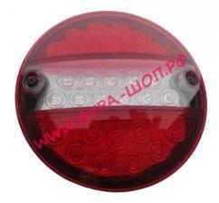 Фонарь, задний, светодиодный, 021, круглый, задним, ходом, супер, cветодиод, узкий, корпус, с, кабелем, 720103, MARS