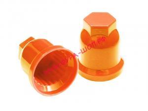 купить, на гайку, Колпачок, пластиковый, 32 оранжевый, ВЫСОКИЙ
