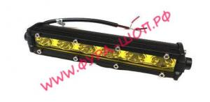 Фара, противотуманная, светодиодная, прямоугольная, желтая, A11-18-S-Y, рабочего, света, 190х30мм, 12-24V