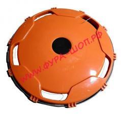 Колпак, колеса, задний, R-22,5, пластик, оранжевый, шт