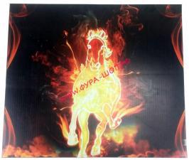 купить, Брызговики, задние, КАМАЗ, самосвал, 575х495, Огненная, Лошадь, цвет, 110