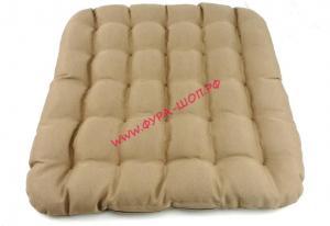 купить, CN5676, Подушка, на сиденье, с наполнителем, (Микромассаж), Бежевая