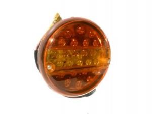 Фонарь, задний, LED 0021, круглый, диод, 24 V, с указателем, поворота, L