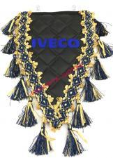 купить, Вымпел, с вышивкой,, треугольный, Iveco, экокожа, с бахромой, черный, ивеко