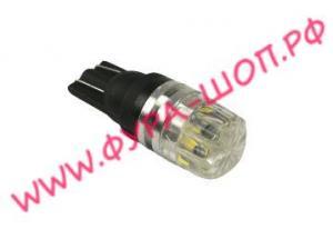 Лампа, с малая, безцокольная, (снежинка), smd Т10, 24V черный, корпус